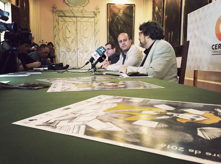 Roda de premsa de presentació Cervera Vila del Llibre