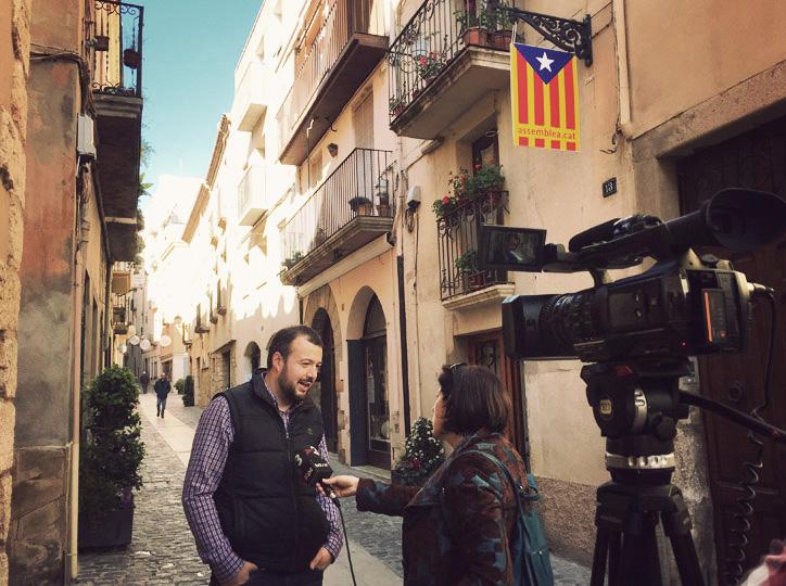 Jordi Albalat, regidor de Cultura, a TV3