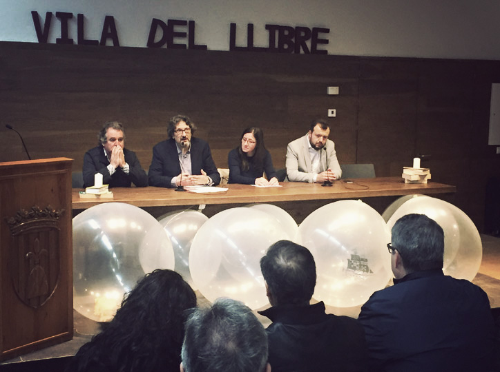 Inauguració: Josep Andreu, Alcalde de Montblanc; Enric Bono, Carme Martí i Jordi Albalat