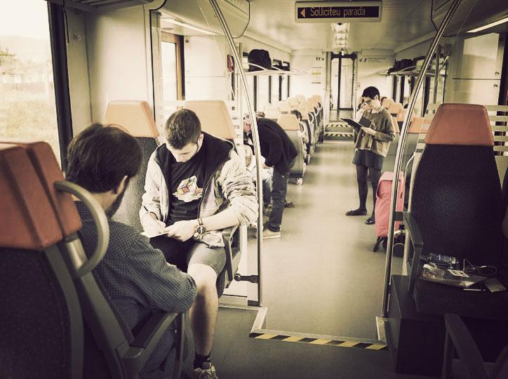 Taller de literatura al tren amb SHSF y FGC