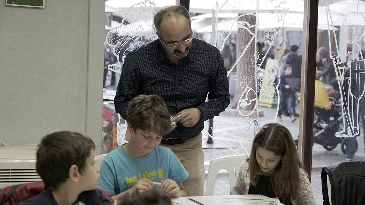 Josep Maria Ibarra al taller d'enigmes
