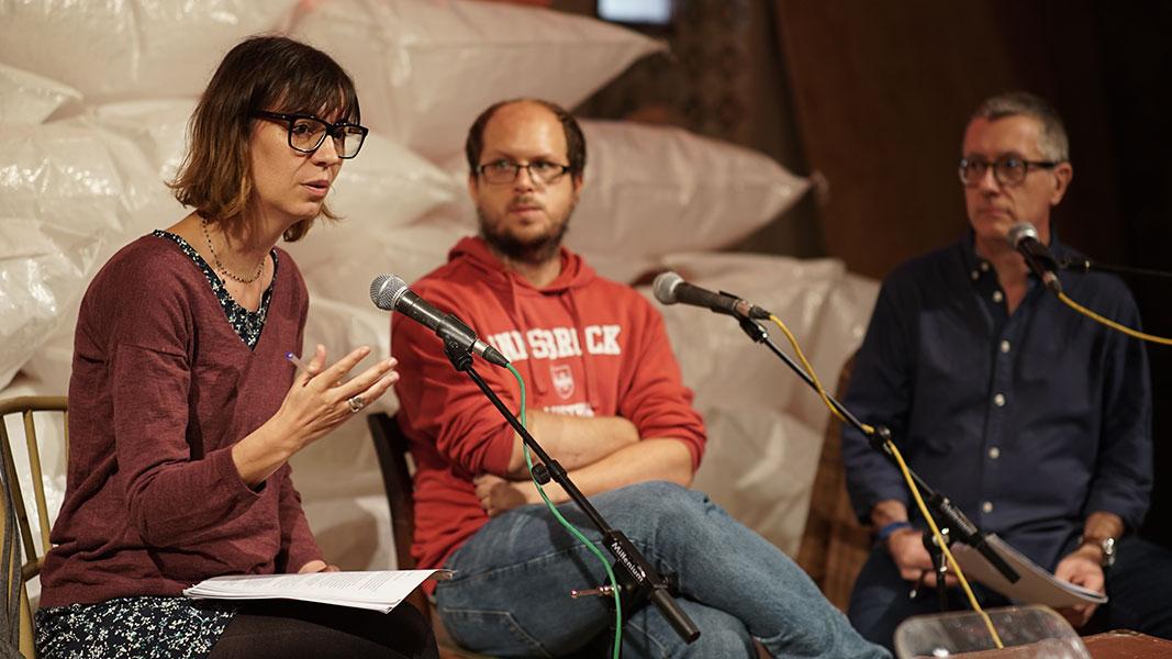 Taula Premi Llibreter: Rosa Rey i Pol Beckmann