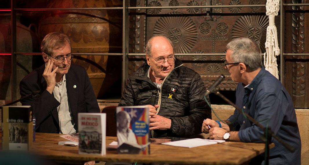 Daniel Rodrigo i José María Murià parlen amb Josep Maria Solé