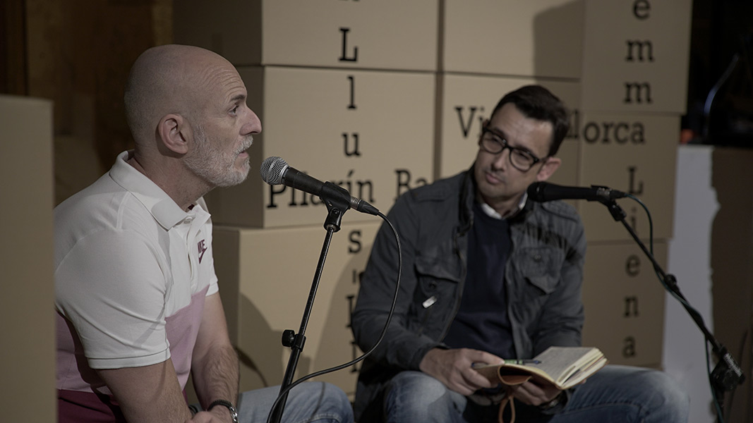 Alejandro Palomas amb Eduard Contijoch